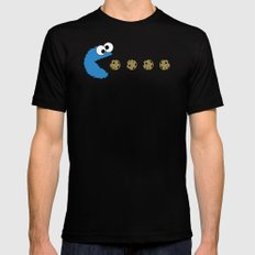 Cookie monster Pacman MEDIUM Black Mens Fitted Tee