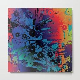spectrum flowers Metal Print