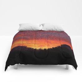 Explosive Sunset Comforters
