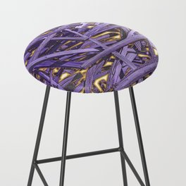 PURPLE KINDLING AND GLOWING EMBERS ABSTRACT Bar Stool