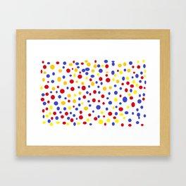 drops of colourful dots Framed Art Print