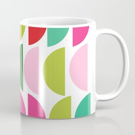 Festive Holiday Colors Geometric Pattern Coffee Mug