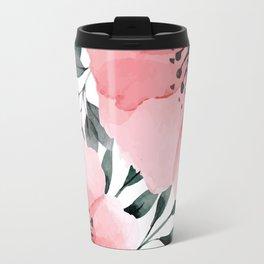Big Watercolor Flowers Travel Mug