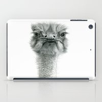 ostrich iPad Cases featuring Ostrich G119 by S-Schukina