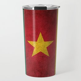 Old and Worn Distressed Vintage Flag of Cameroon Travel Mug