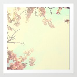 Lovely Flowers in the Sky  Art Print