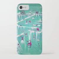 penguins iPhone & iPod Cases featuring Penguins by Spires
