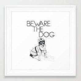 Beware the dog Framed Art Print