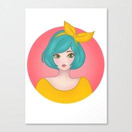 Yellow Bow - Meera Mary Thomas Design Canvas Print