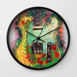 Jimmy Page's dragon guitar Wall Clock