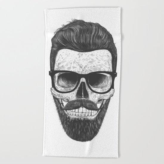 Hipster Skull Beach Towel