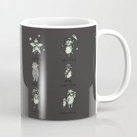 sheep Mugs featuring Sheep by Lili Batista