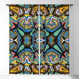 Abstract colored mosaic Kaleidoscope background Blackout Curtain