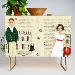 Mr.Darcy of Pemberley and Miss Bennet of Longbourn Credenza