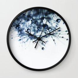 dandelion blue XII Wall Clock