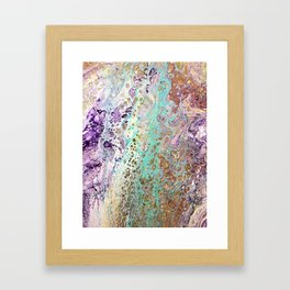 Teal and Amythest Framed Art Print