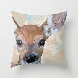 I love you, my deer Throw Pillow