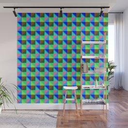 Eight Triangles Invert Pixel Wall Mural