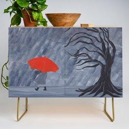 Orange Umbrella Credenza