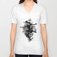 shell V-neck T-shirts featuring Shell by Arina Lourie
