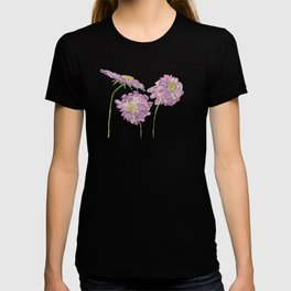 Watercolour Scabiosa Flower T-shirt