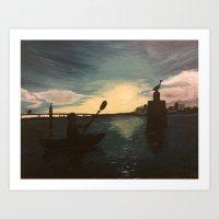 Kayak Day  Art Print