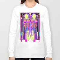 art deco Long Sleeve T-shirts featuring Twin Art Deco Butterflies by SharlesArt