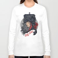 bad wolf Long Sleeve T-shirts featuring Bad Wolf by zerobriant