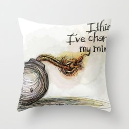 making up minds Throw Pillow