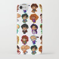 percy jackson iPhone & iPod Cases featuring Chibis of Olympus by chubunu