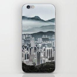Hong Kong urban and nature iPhone Skin