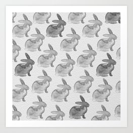 Watercolor Bunnies 1N by Kathy Morton Stanion Art Print