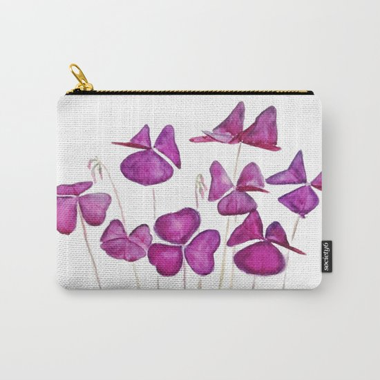 purple clover leaves Carry-All Pouch