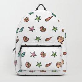 Sea Stuff Pattern Backpack