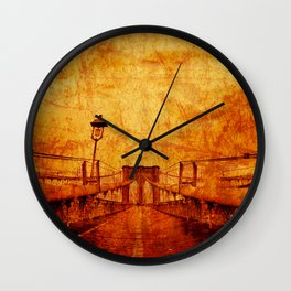 Brooklyn Burning Wall Clock
