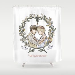 """Illustration from the video of the song by Wilder Adkins, """"When I'm Married"""" (no names on it) Shower Curtain"""