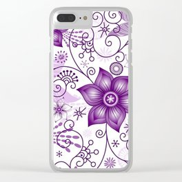 Colorful Butterflies and Flowers V8 Clear iPhone Case