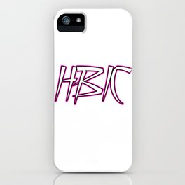 HBIC Retro Letters Pink iPhone Case