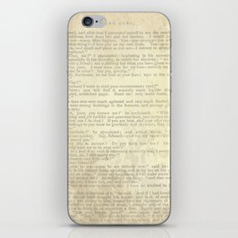 Jane Eyre, Mr. Rochester Proposal by Charlotte Bronte iPhone Skin