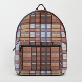 Square plaid pattern in classic style Backpack