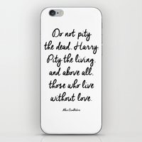 dumbledore iPhone & iPod Skins featuring HARRY POTTER // ALBUS DUMBLEDORE II by Brittney Weidemann
