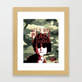 Quote - Let's give peace a chance Framed Art Print