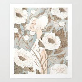 Camouflaged Art Print