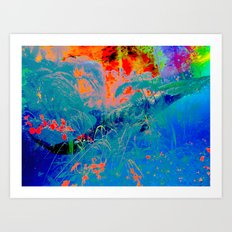 Dolphin Forest Art Print