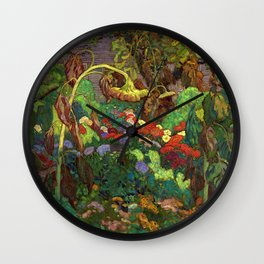 The Tangled Garden by James Edward Hervey MacDonald - Canada, Canadian Oil Painting - Group of Seven Wall Clock