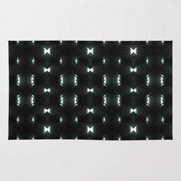 Futuristic Dark Hexagonal Grid Pattern Design Rug