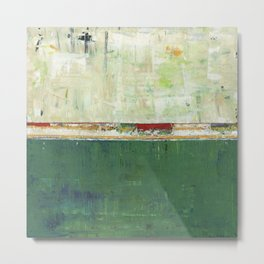 Limerick Irish Ireland Abstract Green Modern Art Landscape Metal Print