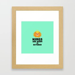 Kings are born in OCTOBER T-Shirt Dzx1p Framed Art Print
