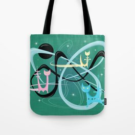 Atomic Rocket Cats In Space Tote Bag