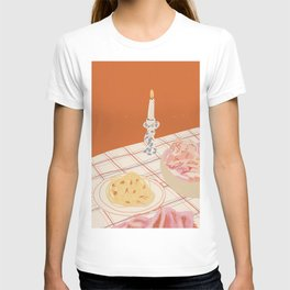 Spaghetti and Candles Dinner Date T-shirt